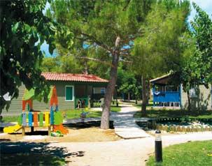 Bungalowbereich Camping Stel